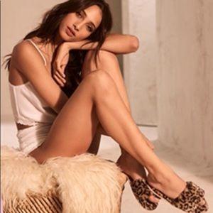 Victoria's Secret leopard slippers